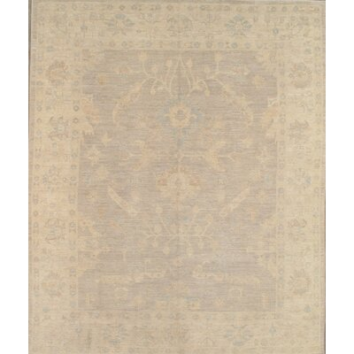 Oushak Hand-Knotted Light Gray Area Rug