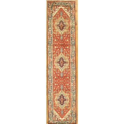 Serapi Hand-Knotted Rust/Ivory Area Rug Rug Size: Runner 29 x 123