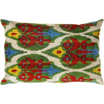 Ikat Silk Lumbar Pillow