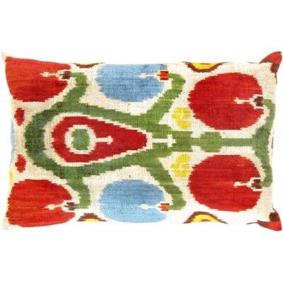 Ikat Silk Lumbar Pillow