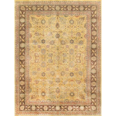 Tabriz Hand-Knotted Gold Area Rug