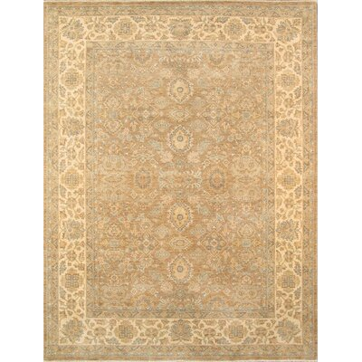 Sultanabad Hand-Knotted Camel Area Rug