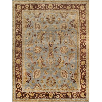 Sultanabad Hand-Knotted Light Blue Area Rug