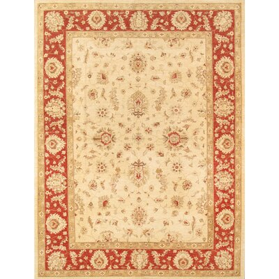 Sultanabad Hand-Knotted Ivory Area Rug