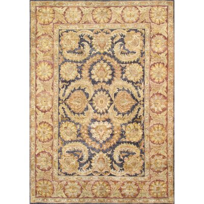 Agra Hand-Knotted Black Area Rug