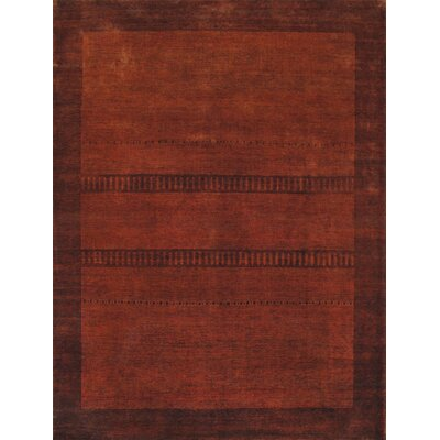 Gabbeh Hand-Knotted Rust Area Rug
