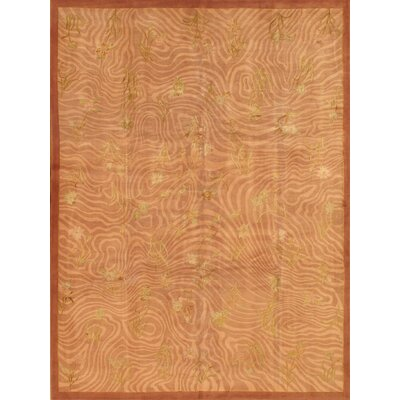 Tibetan Hand-Knotted Peach Area Rug