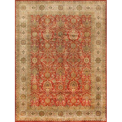 Tabriz Hand-Knotted Rust Area Rug