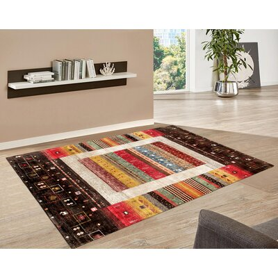 Gabbeh Hand-Knotted Brown/Pink Area Rug