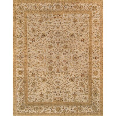 Tabriz Hand-Knotted Ivory Area Rug