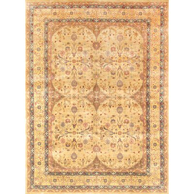 Tabriz Hand-Knotted Camel Area Rug