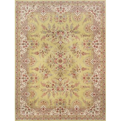 Tabriz Hand-Knotted Yellow Area Rug