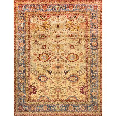Agra Hand-Knotted Gold Area Rug