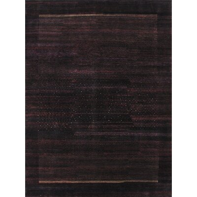Gabbeh Hand-Knotted Black Area Rug
