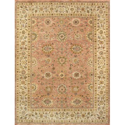 Kashan Hand-Knotted Salmon Area Rug