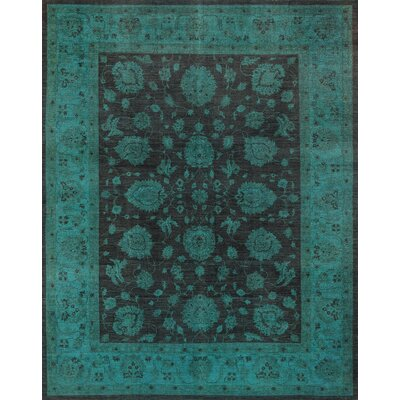Overdyes Hand-Knotted Brown/Green Area Rug