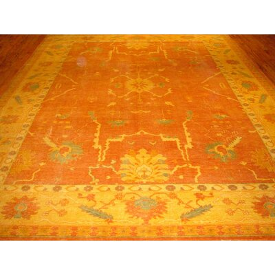 Oushak Hand-Knotted Salmon Area Rug