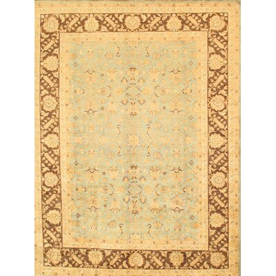 Sultanabad Hand-Knotted Blue/Brown Area Rug
