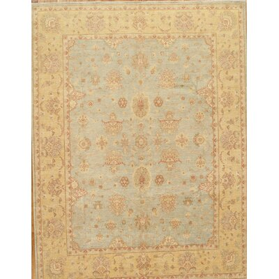 Sultanabad Hand-Knotted Blue/Gold Area Rug