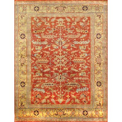 Mahal Hand-Knotted Rust/Gold Area Rug
