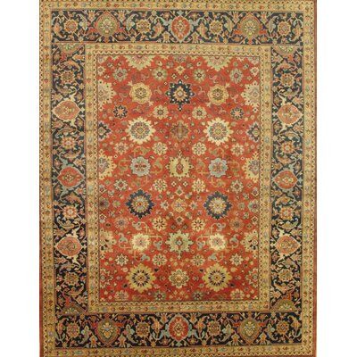 Mahal Hand-Knotted Rust/Navy Area Rug