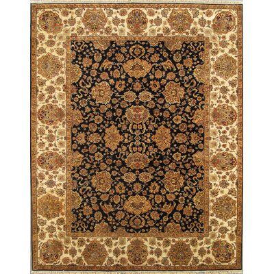 Agra Hand-Knotted Navy Area Rug
