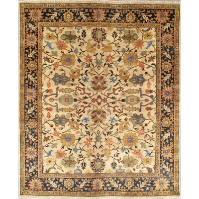 Mahal Hand-Knotted Ivory Area Rug