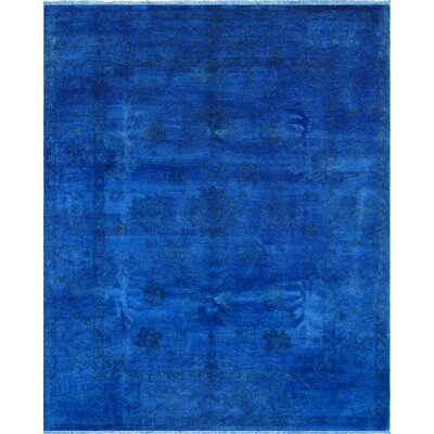 Overdyes Hand-Knotted Blue Area Rug