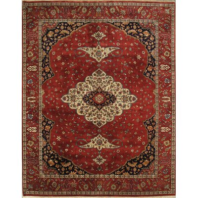 Ferehan Hand-Knotted Rust Area Rug