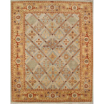 Bakhshayesh Hand-Knotted Light Blue Area Rug