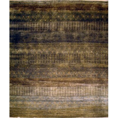 Hand-Knotted Charcoal Area Rug