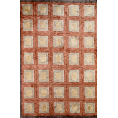 Tibetan Hand-Knotted Brown/Gray Area Rug