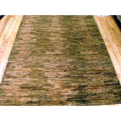 Hand-Knotted Light Brown Rug