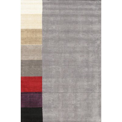 Hand-Loomed Grey Area Rug