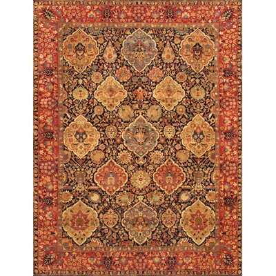 Kerman Hand-Knotted Navy Area Rug Rug Size: Rectangle 711 x 99