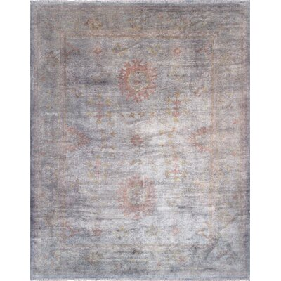 Overdye Hand-Knotted Gray Area Rug