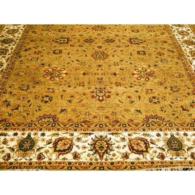 Agra Hand-Knotted Camel/Ivory Area Rug