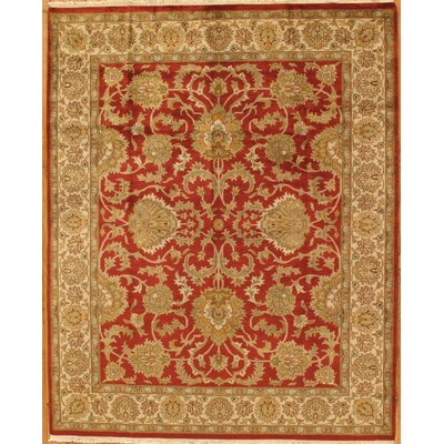Tabriz Hand-Knotted Rust Area Rug Rug Size: Rectangle 8 x 10