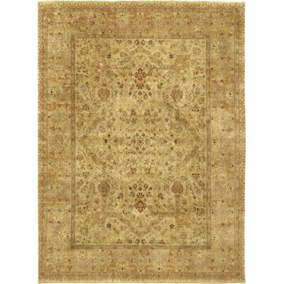 Tabriz Hand-Knotted Area Rug Rug Size: 89 x 119