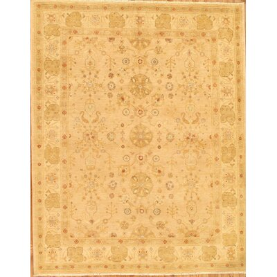 Sultanabad Hand-Knotted Beige Area Rug