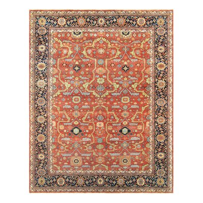 Ferehan Hand-Knotted Rust/Navy Area Rug Rug Size: Rectangle 9 x 12