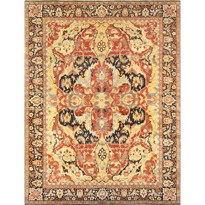 Bidjar Hand-Knotted Rust/Navy Area Rug