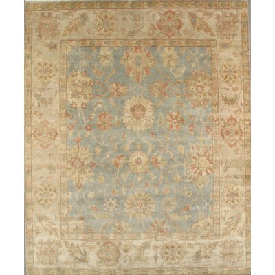Sultanabad Hand-Knotted Blue/Ivory Area Rug Rug Size: Rectangle 9 x 12