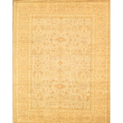 Sultanabad Hand-Knotted Light Gold/Light Blue Area Rug
