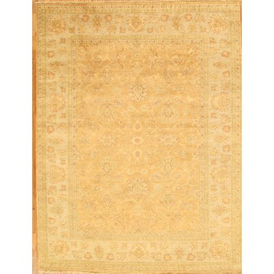 Sultanabad Hand-Knotted Camel/Light Blue Area Rug