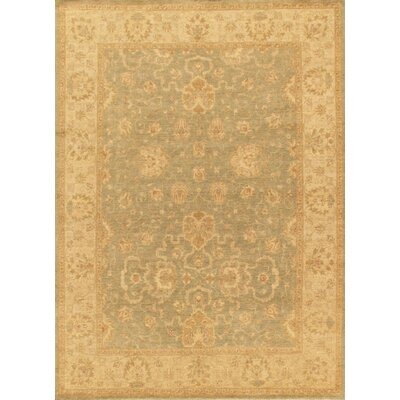 Sultanabad Hand-Knotted Ivory/Light Green Area Rug