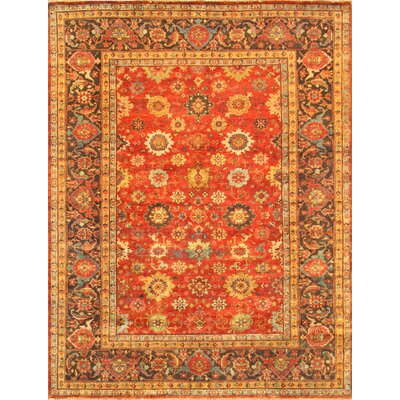 Mahal Hand-Knotted Rust/Brown Area Rug Rug Size: 10 x 14
