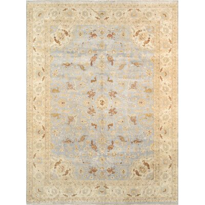 Tabriz Hand-Knotted Light Blue/Beige Area Rug