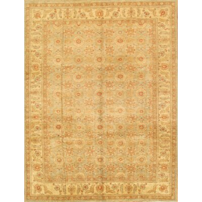 Tabriz Hand-Knotted Beige/Light Blue Area Rug