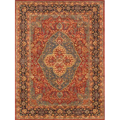 Tabriz Hand-Tufted Rust/Navy Area Rug